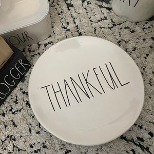 Rae Dunn appetizer plate | THANKFUL